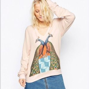 Wildfox Peacock Palace Jumper pullover sweater.